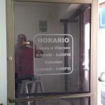 Vinil Arenado sobre Vidrio